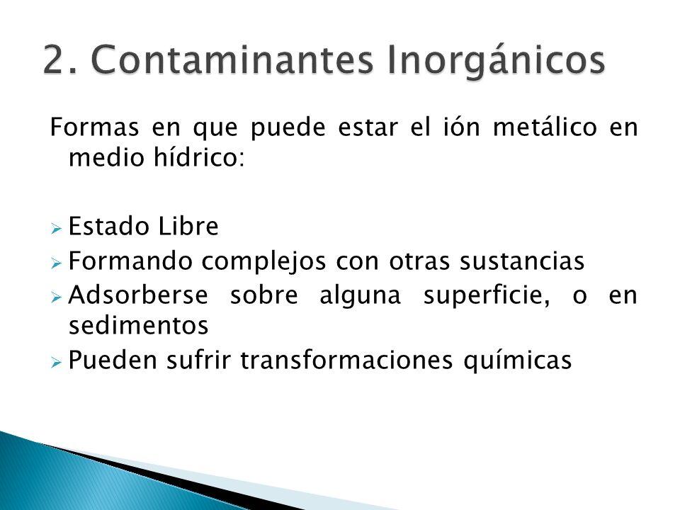 2. Contaminantes Inorgánicos