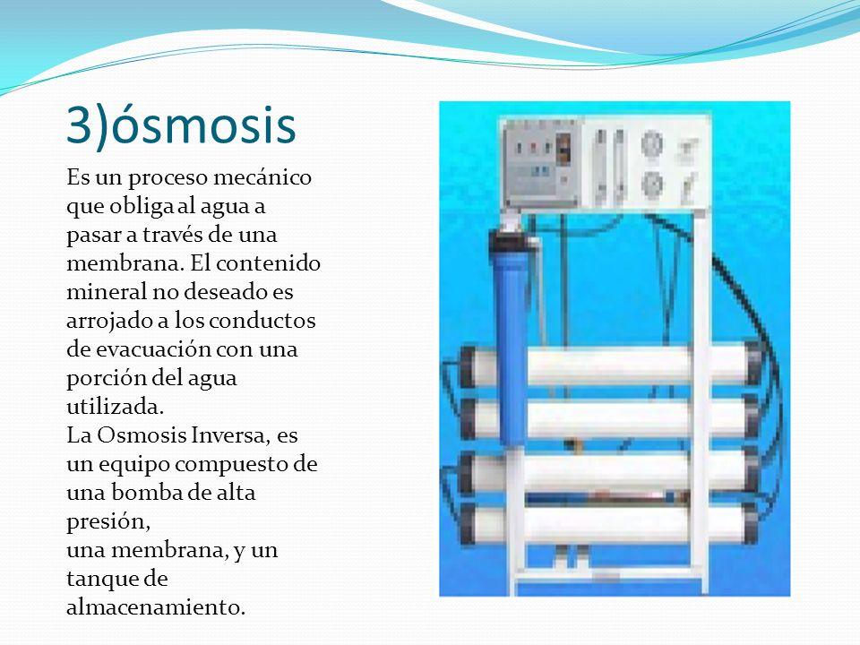 3)ósmosis
