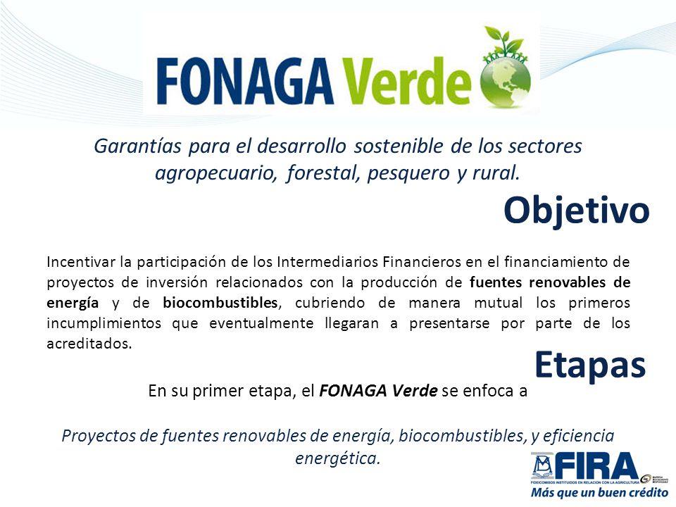 En su primer etapa, el FONAGA Verde se enfoca a