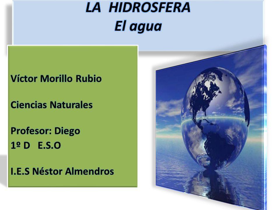 LA HIDROSFERA El agua Víctor Morillo Rubio Ciencias Naturales