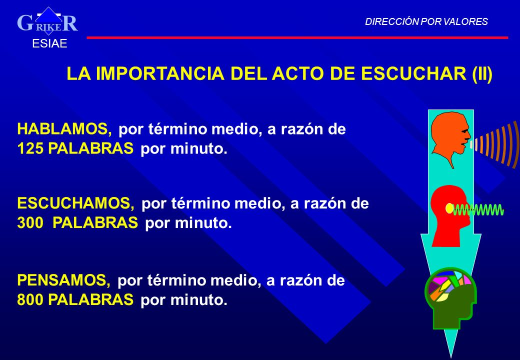 LA IMPORTANCIA DEL ACTO DE ESCUCHAR (II)