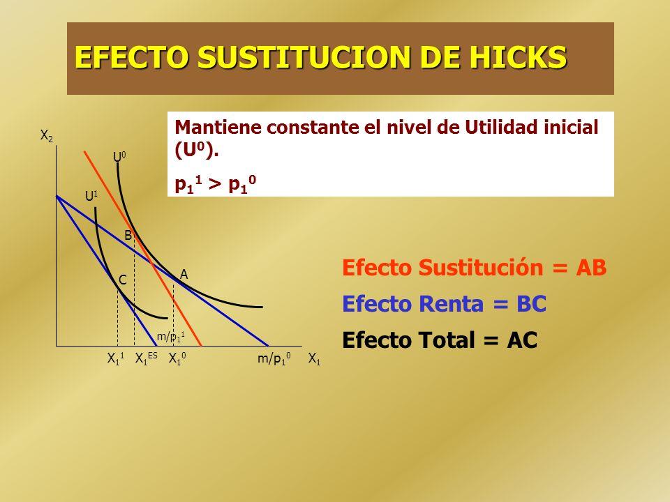 EFECTO SUSTITUCION DE HICKS