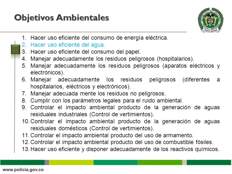 Objetivos Ambientales