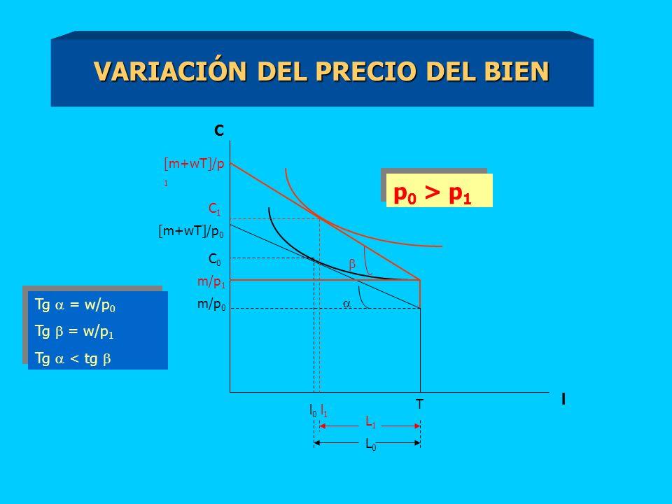 VARIACIÓN DEL PRECIO DEL BIEN