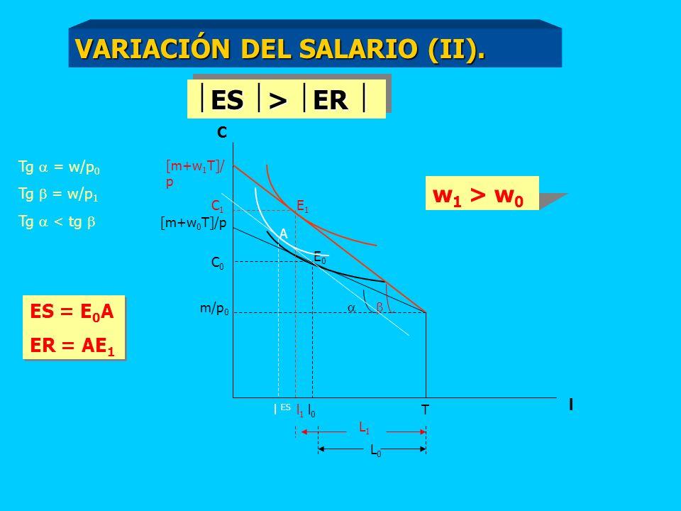 VARIACIÓN DEL SALARIO (II).