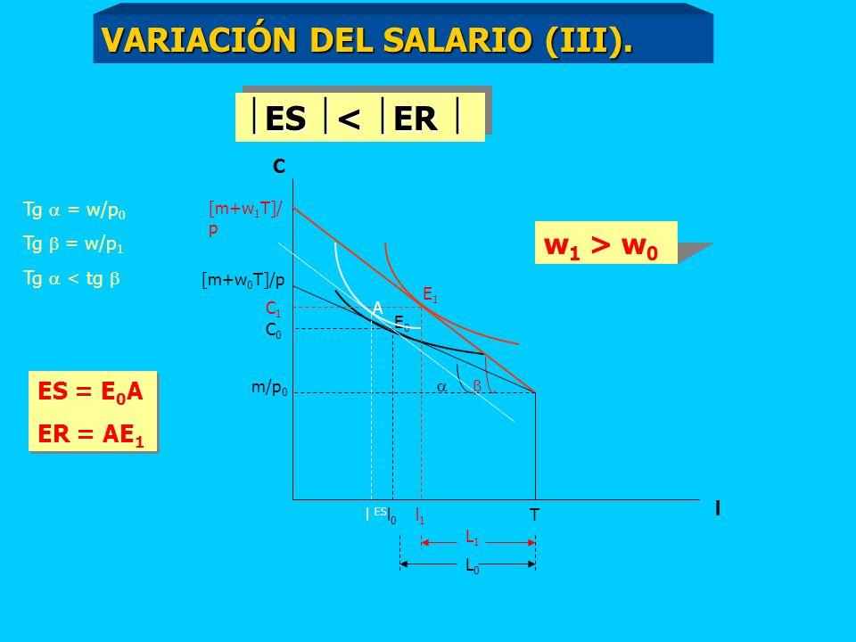 VARIACIÓN DEL SALARIO (III).