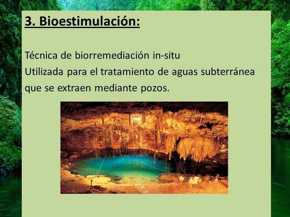 3. Bioestimulación: Técnica de biorremediación in-situ
