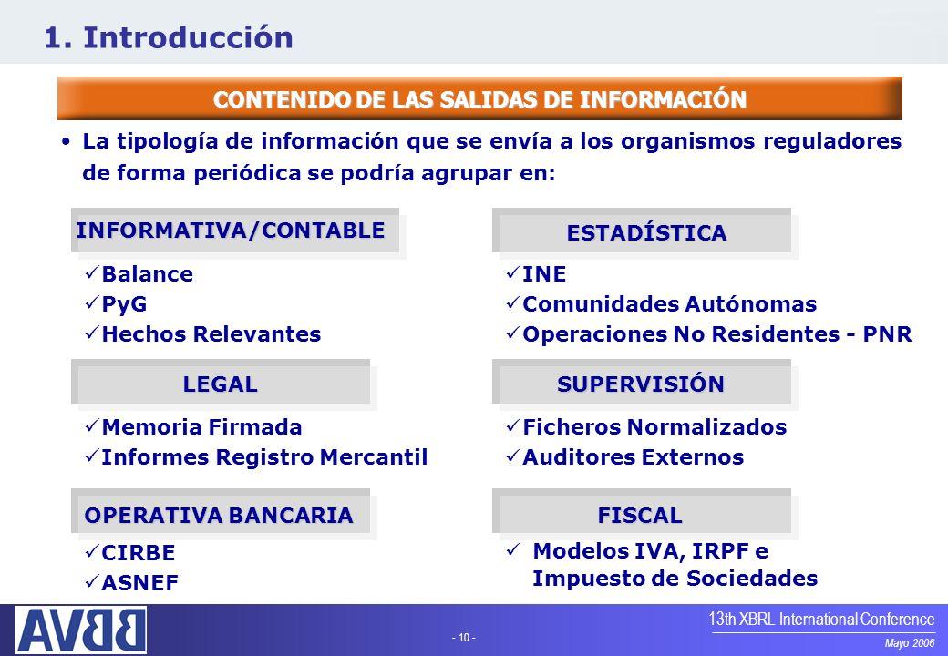 CONTENIDO DE LAS SALIDAS DE INFORMACIÓN INFORMATIVA/CONTABLE