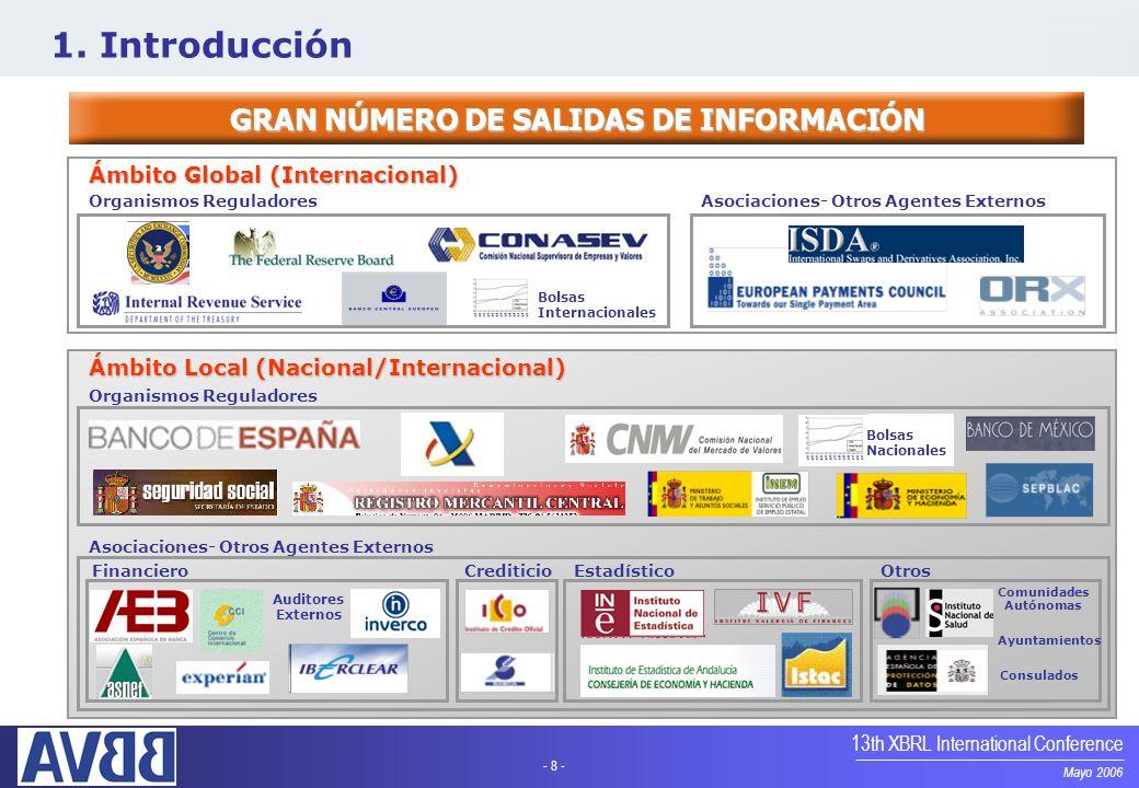 GRAN NÚMERO DE SALIDAS DE INFORMACIÓN Comunidades Autónomas