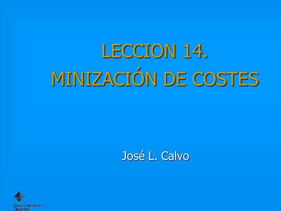 LECCION 14. MINIZACIÓN DE COSTES