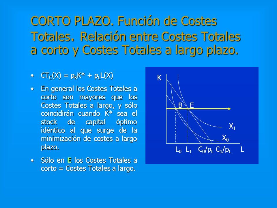 CORTO PLAZO. Función de Costes Totales