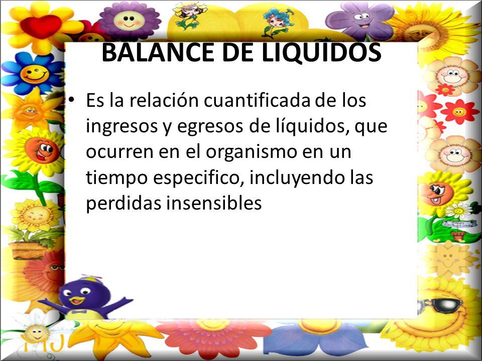 BALANCE DE LIQUIDOS