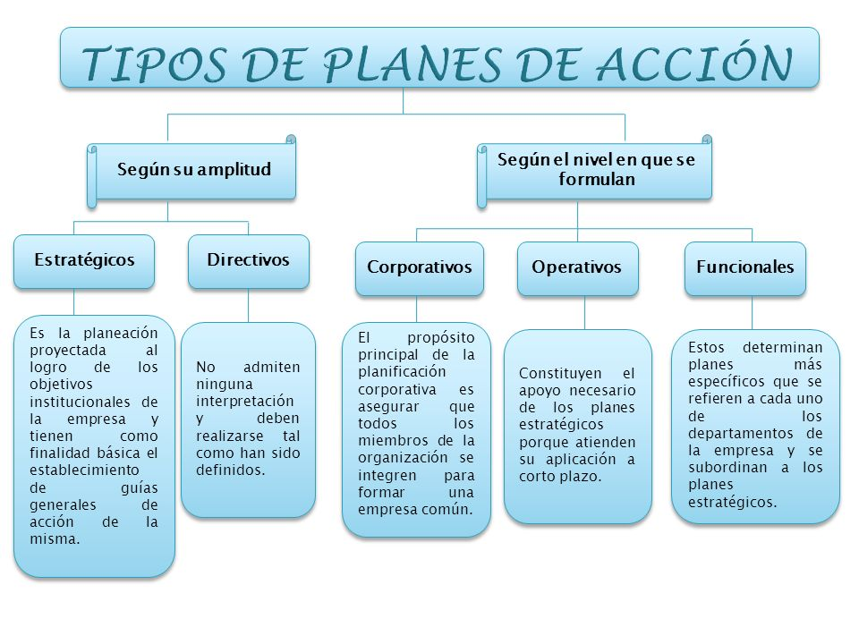 TIPOS DE PLANES DE ACCIÓN