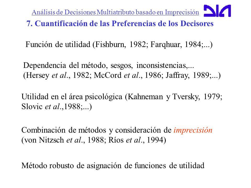 7. Cuantificación de las Preferencias de los Decisores