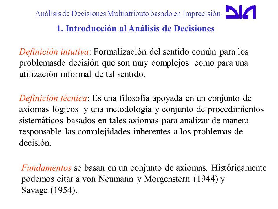 1. Introducción al Análisis de Decisiones