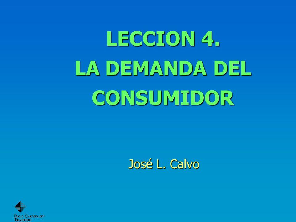 LECCION 4. LA DEMANDA DEL CONSUMIDOR