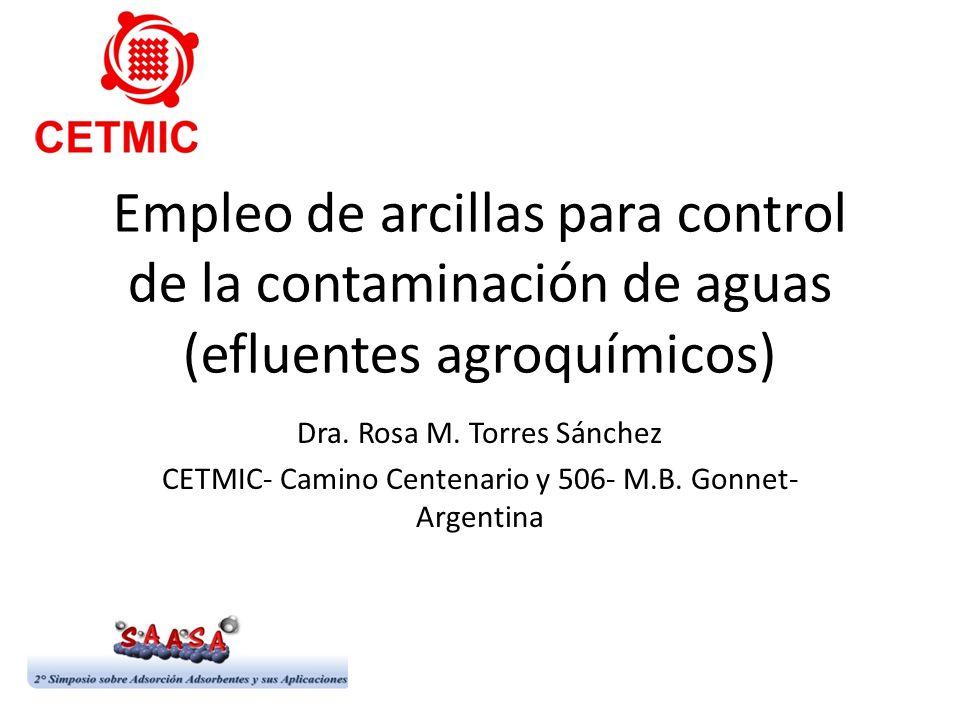 Empleo de arcillas para control de la contaminación de aguas (efluentes agroquímicos)