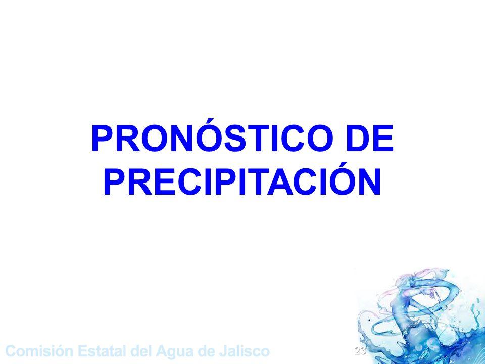 PRONÓSTICO DE PRECIPITACIÓN