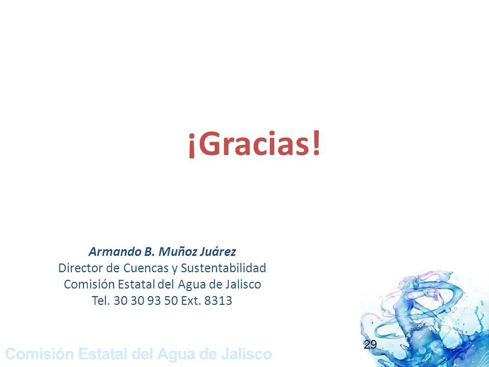 ¡Gracias! Armando B. Muñoz Juárez
