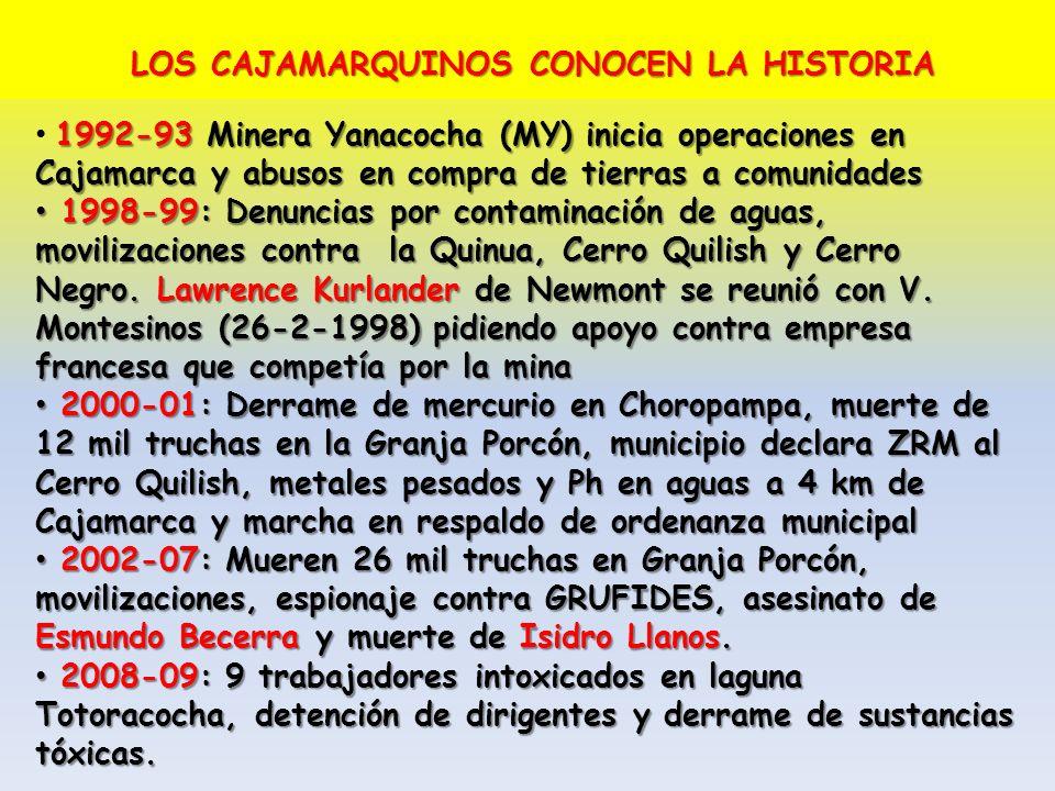 LOS CAJAMARQUINOS CONOCEN LA HISTORIA