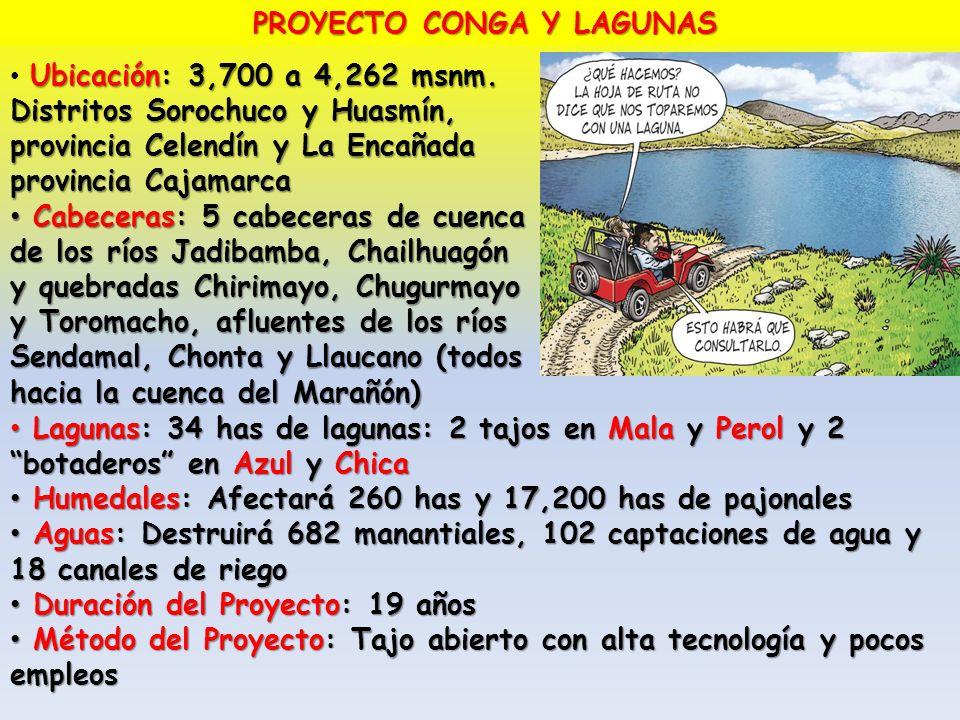 PROYECTO CONGA Y LAGUNAS
