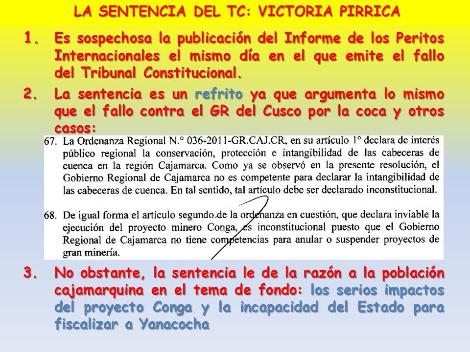 LA SENTENCIA DEL TC: VICTORIA PIRRICA