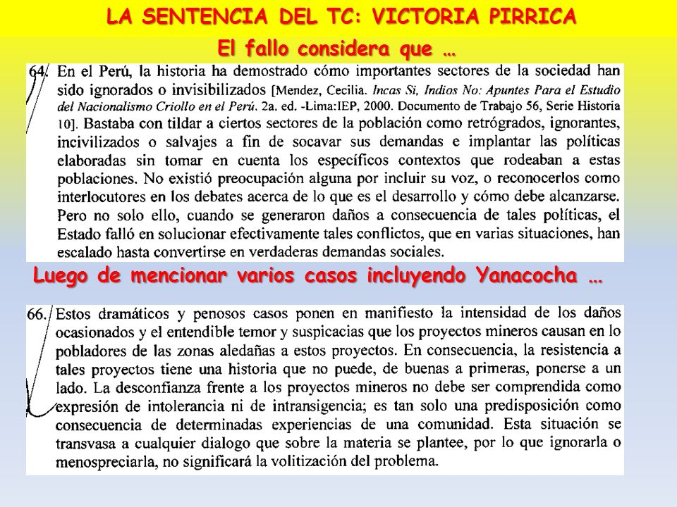 LA SENTENCIA DEL TC: VICTORIA PIRRICA El fallo considera que …