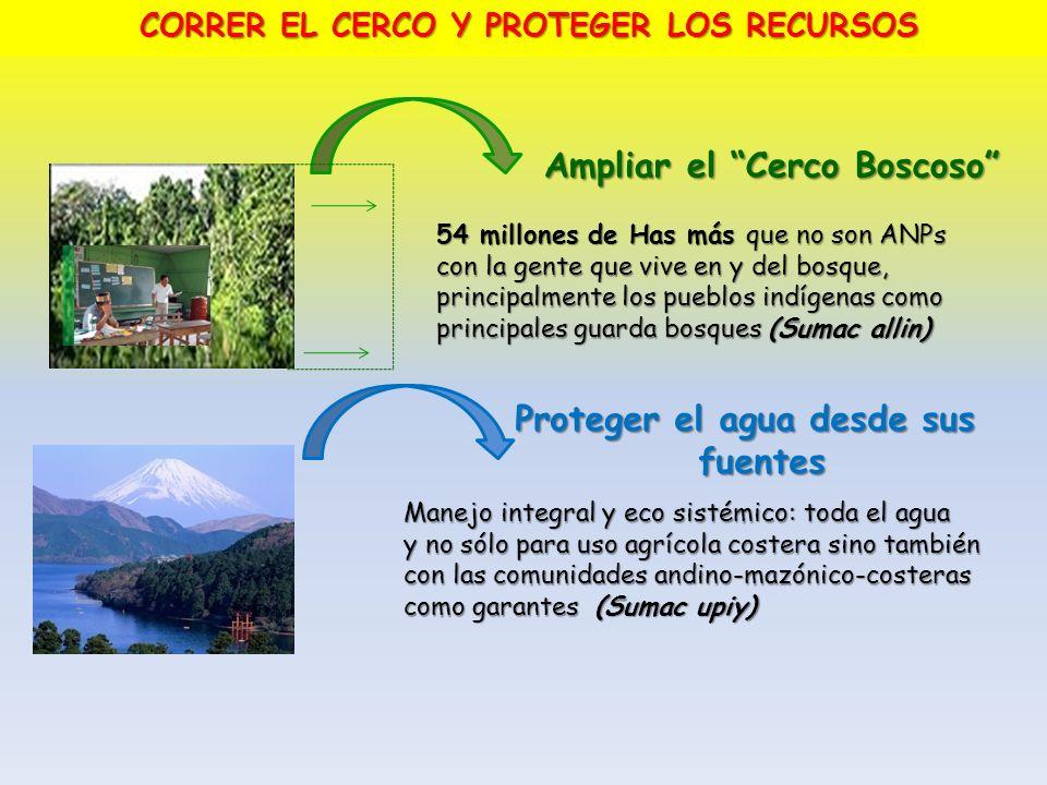 CORRER EL CERCO Y PROTEGER LOS RECURSOS
