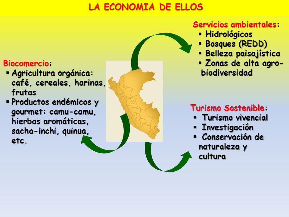 LA ECONOMIA DE ELLOS Servicios ambientales: Hidrológicos