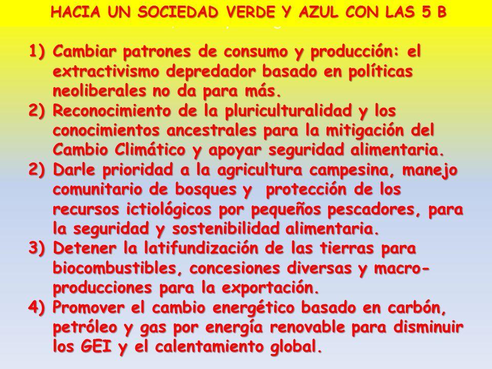 HACIA UN SOCIEDAD VERDE Y AZUL CON LAS 5 B