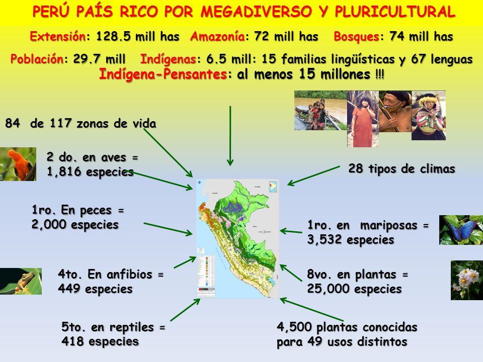 PERÚ PAÍS RICO POR MEGADIVERSO Y PLURICULTURAL