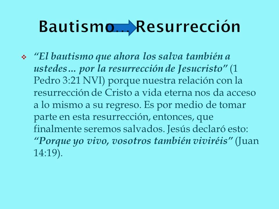 Bautismo… Resurrección