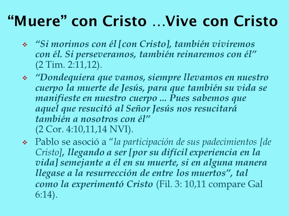Muere con Cristo …Vive con Cristo