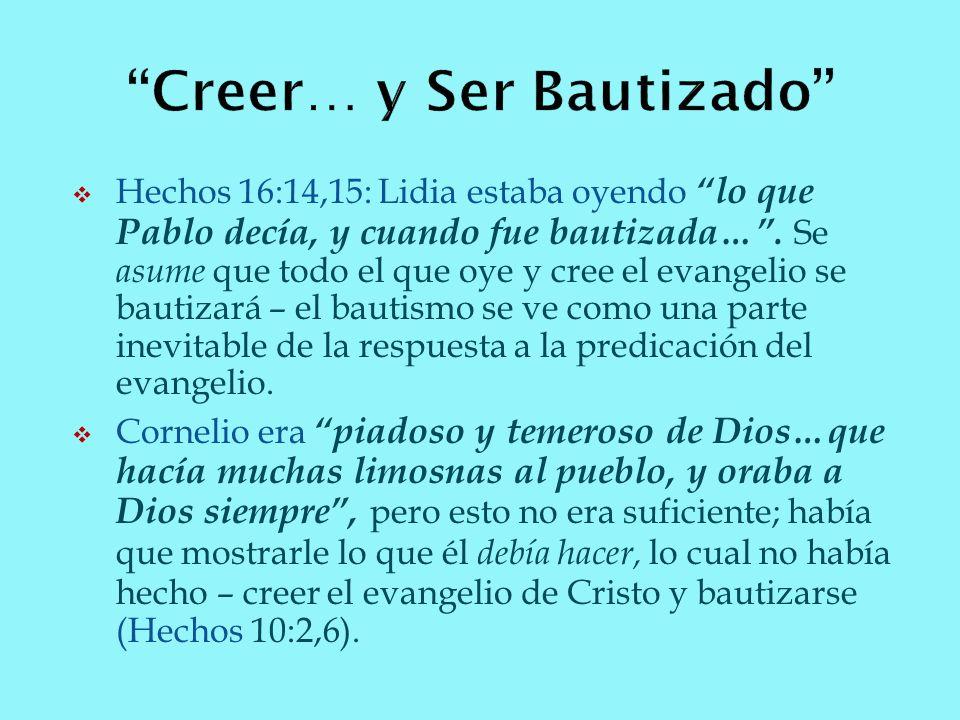 Creer… y Ser Bautizado