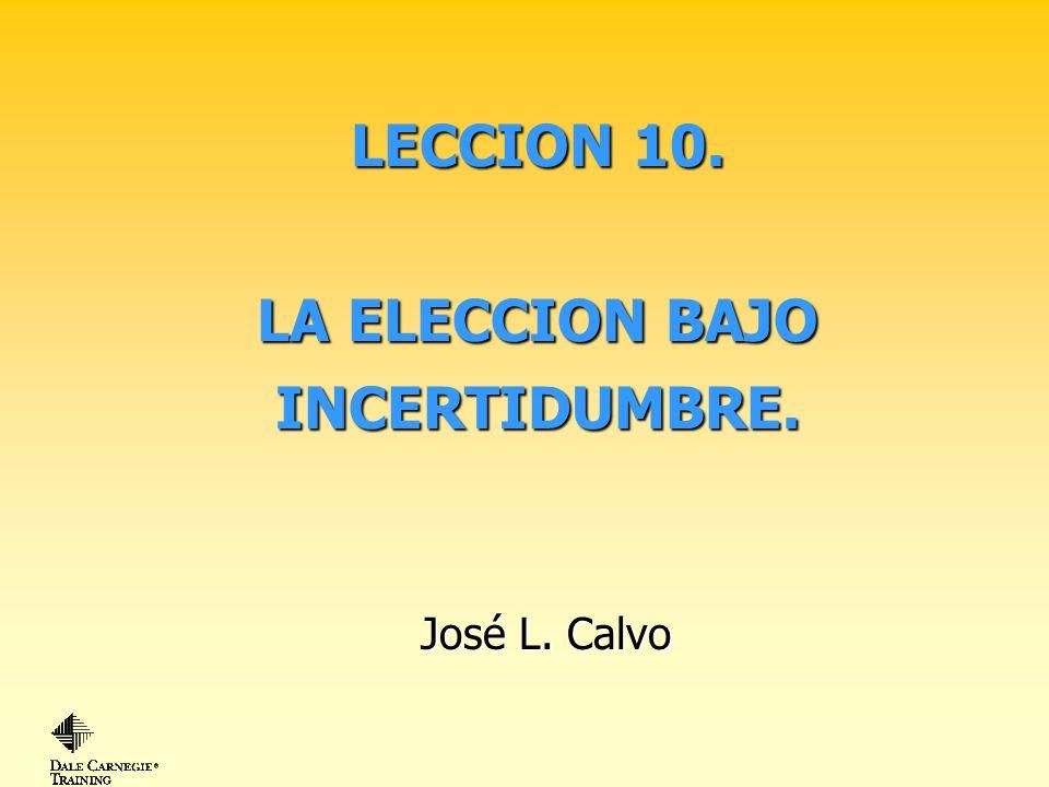 LECCION 10. LA ELECCION BAJO INCERTIDUMBRE.