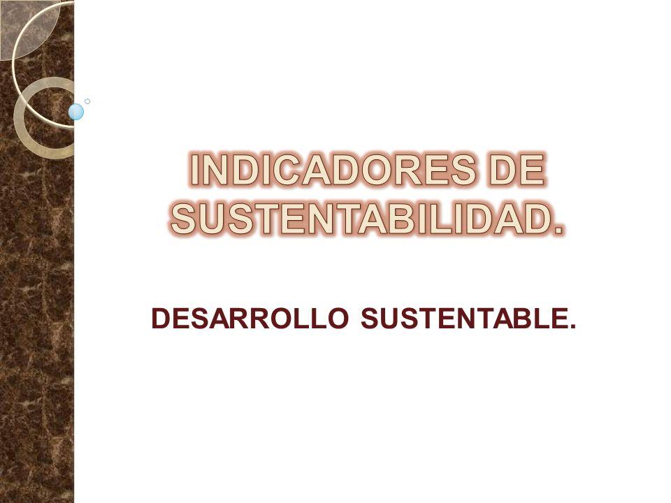 INDICADORES DE SUSTENTABILIDAD.