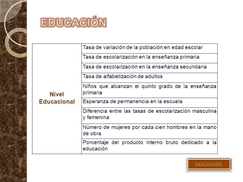 EDUCACIÓN Nivel Educacional