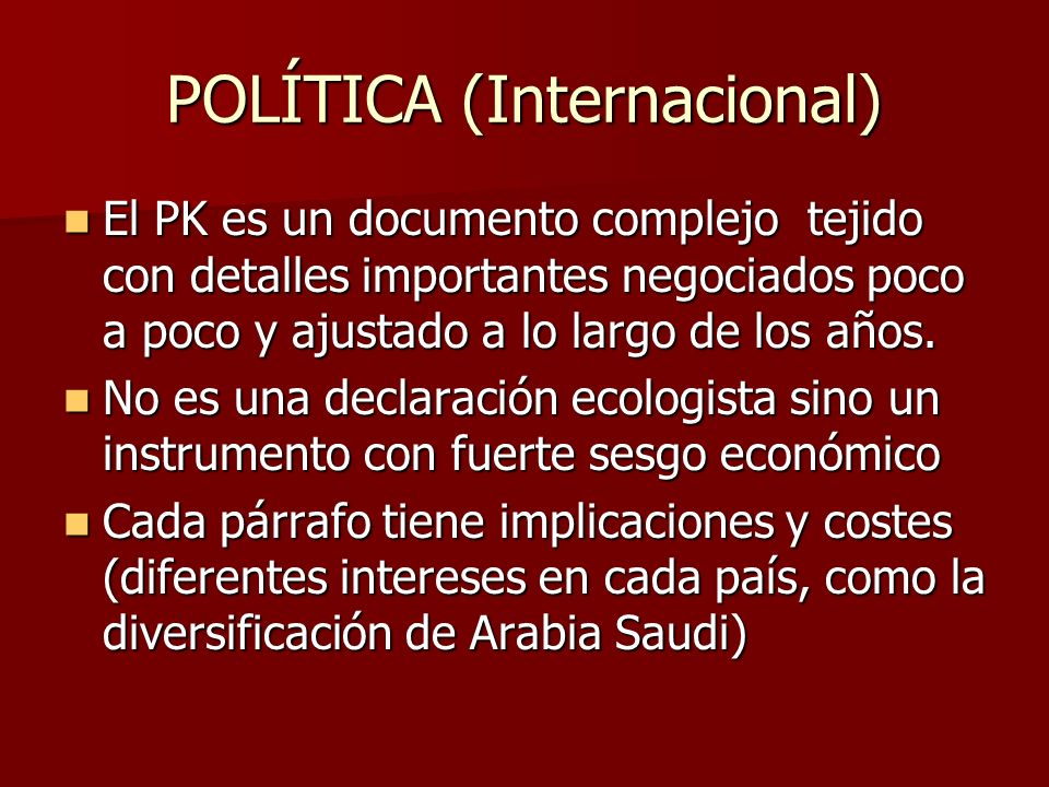 POLÍTICA (Internacional)