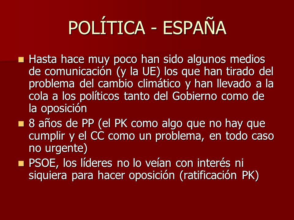 POLÍTICA - ESPAÑA