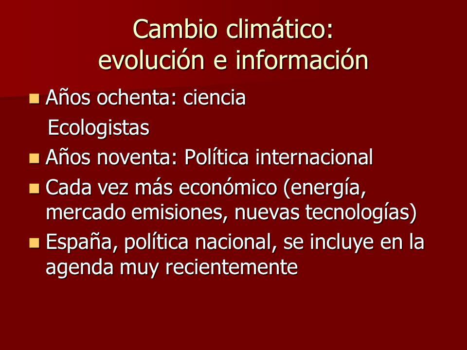 Cambio climático: evolución e información