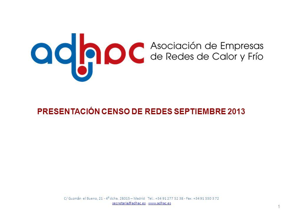 PRESENTACIÓN CENSO DE REDES SEPTIEMBRE 2013