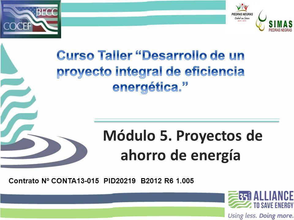 Módulo 5. Proyectos de ahorro de energía