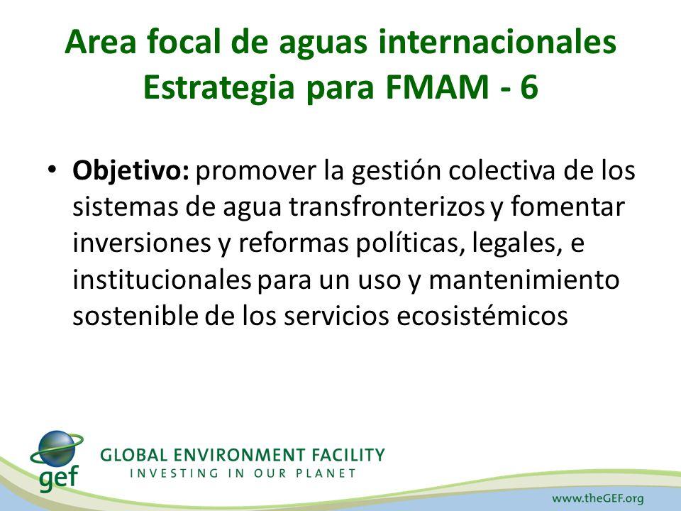 Area focal de aguas internacionales Estrategia para FMAM - 6