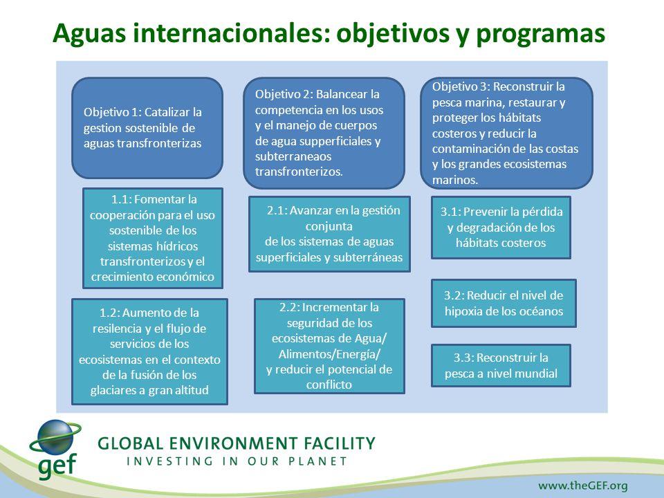 Aguas internacionales: objetivos y programas