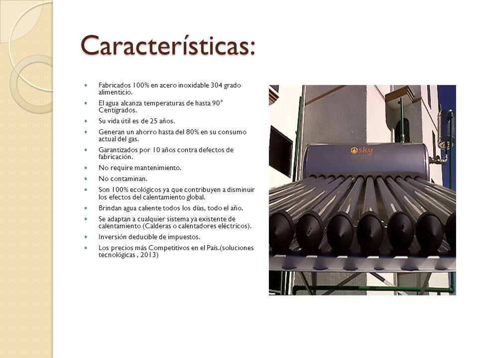 Características: Fabricados 100% en acero inoxidable 304 grado alimenticio. El agua alcanza temperaturas de hasta 90° Centígrados.
