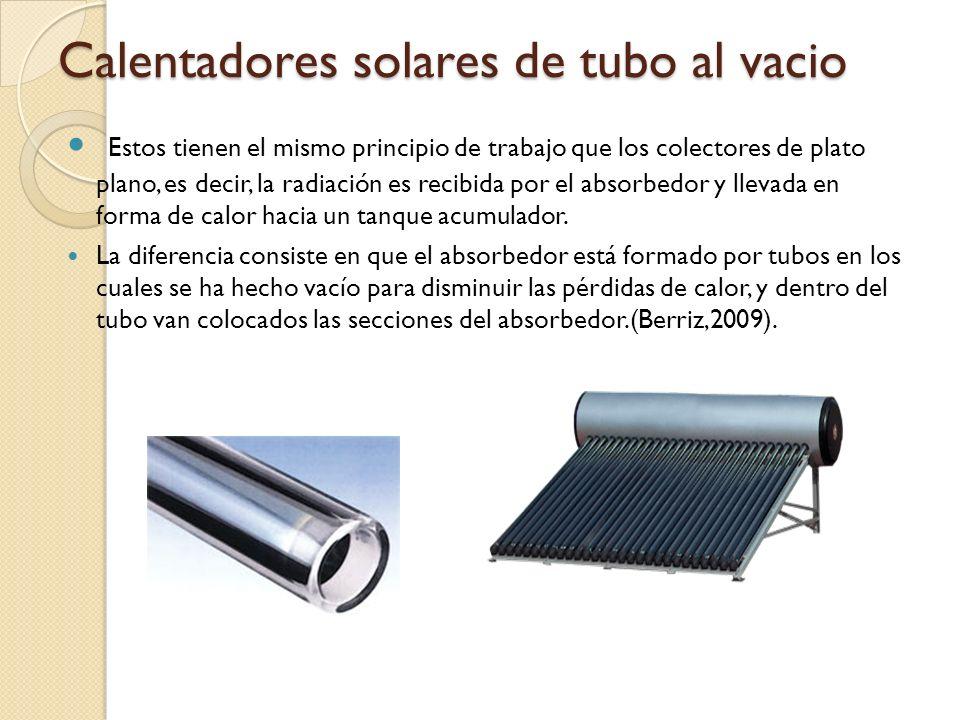 Calentadores solares de tubo al vacio