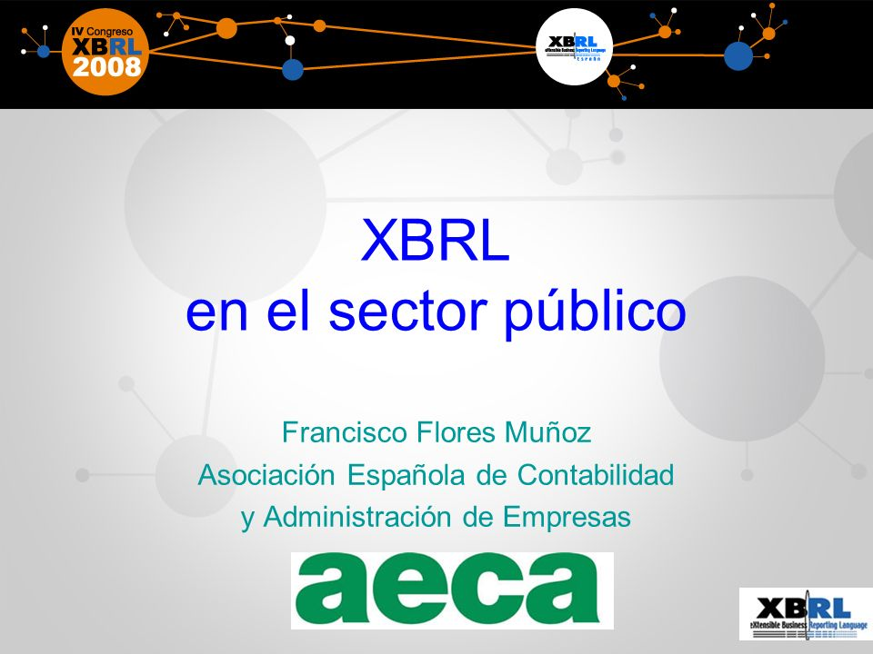XBRL en el sector público