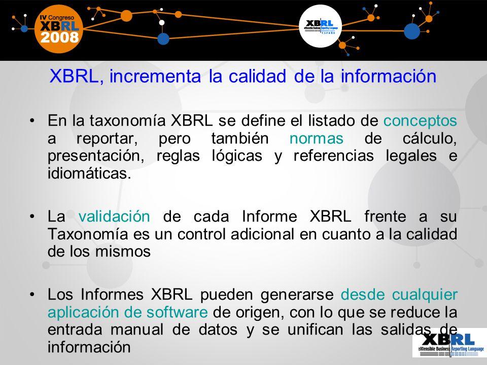 XBRL, incrementa la calidad de la información