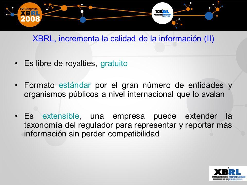 XBRL, incrementa la calidad de la información (II)