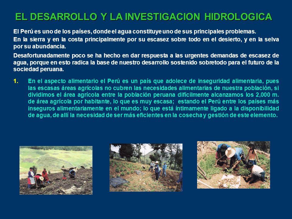 EL DESARROLLO Y LA INVESTIGACION HIDROLOGICA